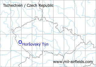 Map with location of Horšovský Týn Airfield, Czech Republic
