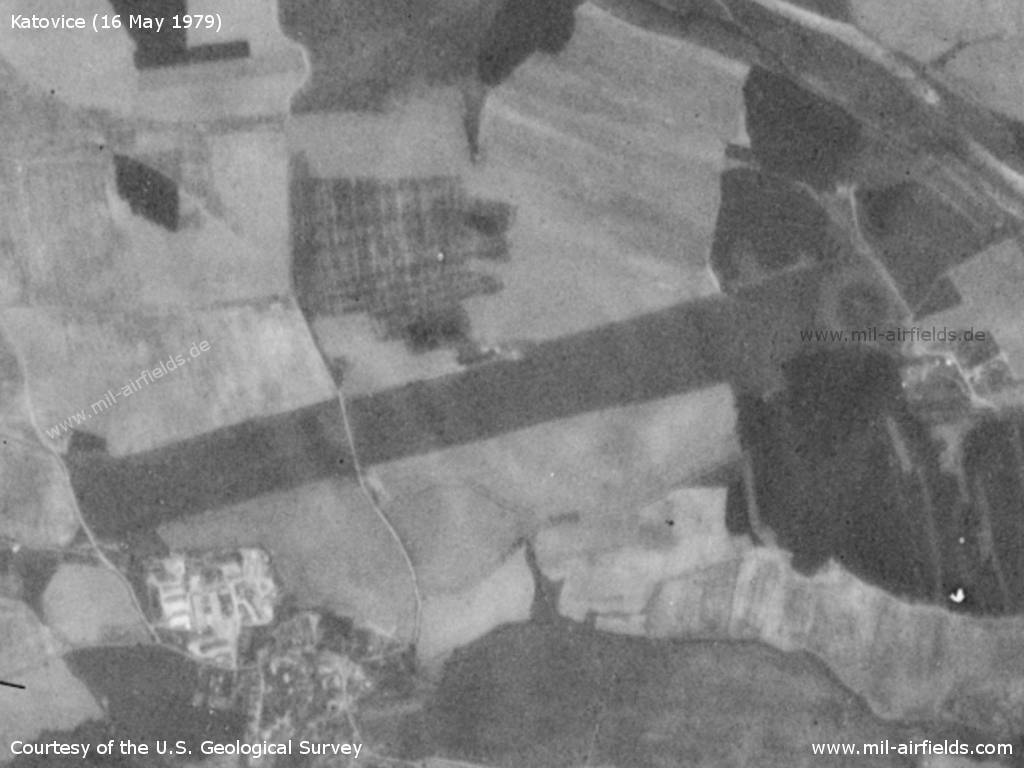 Katovice Airfield, Czech Republic, on a US satellite image 1979