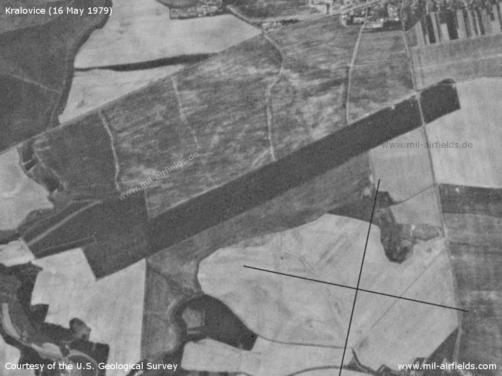 Kralovice Airfield, Czech Republic, on a US satellite image 1979