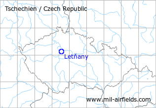 Map with location of Letňany Airfield, Czech Republic