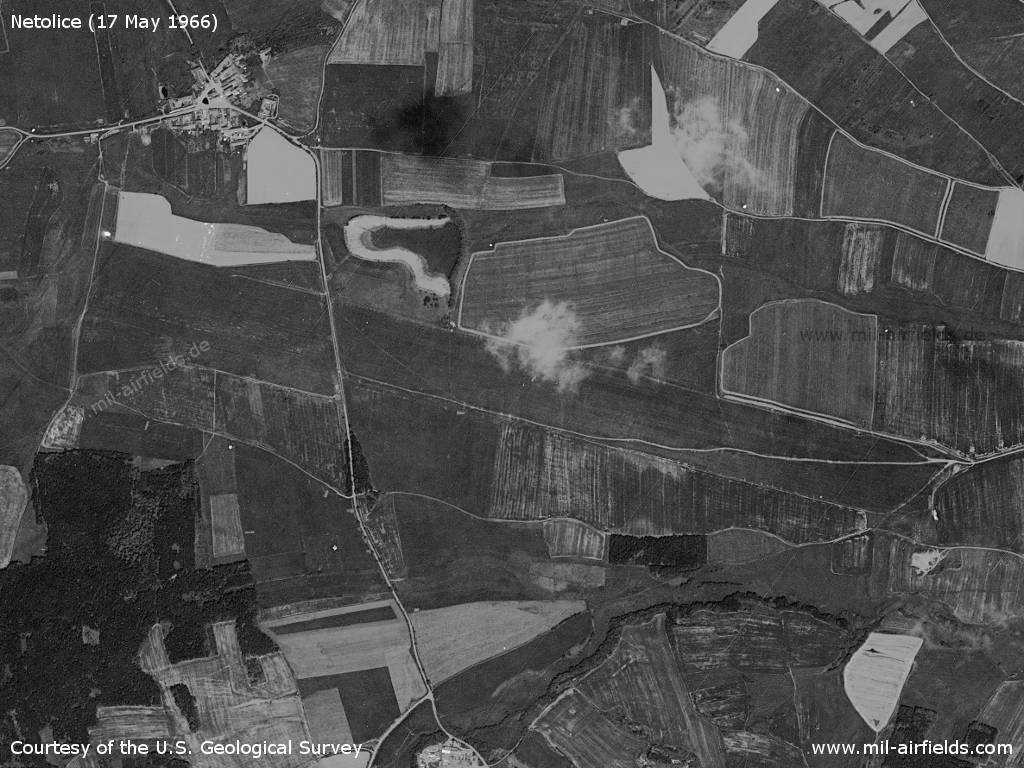 Netolice Airfield, Czech Republic, on a US satellite image 1966