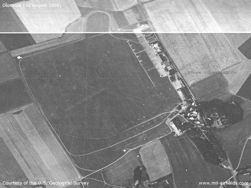 Olomouc Airfield, Czechia, on a US satellite image 1966