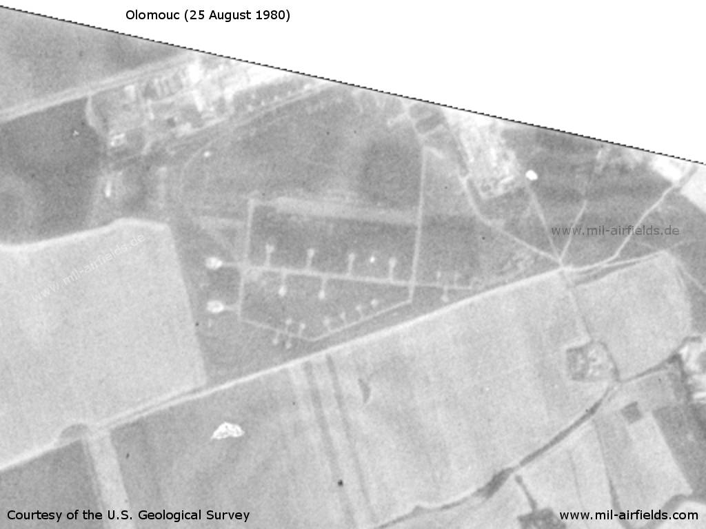 Olomouc Neredin Airfield, Germany, on a US satellite image 1980