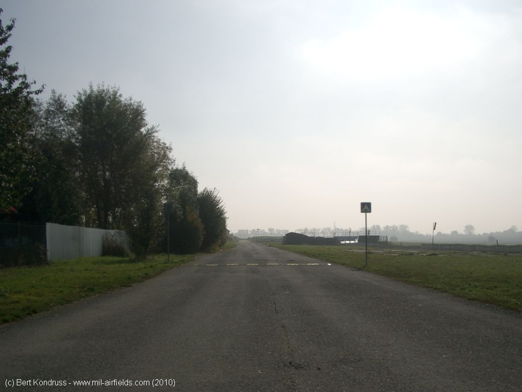 Road on the east side of the airfield