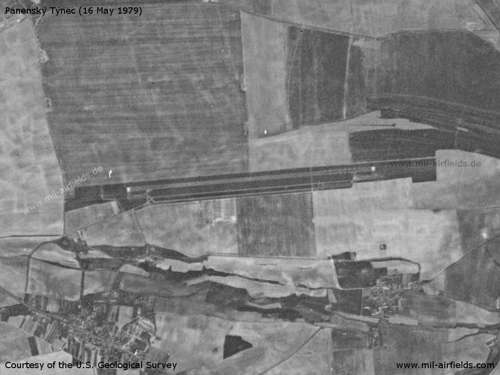 Panenský Týnec Airfield on a US satellite image 1979