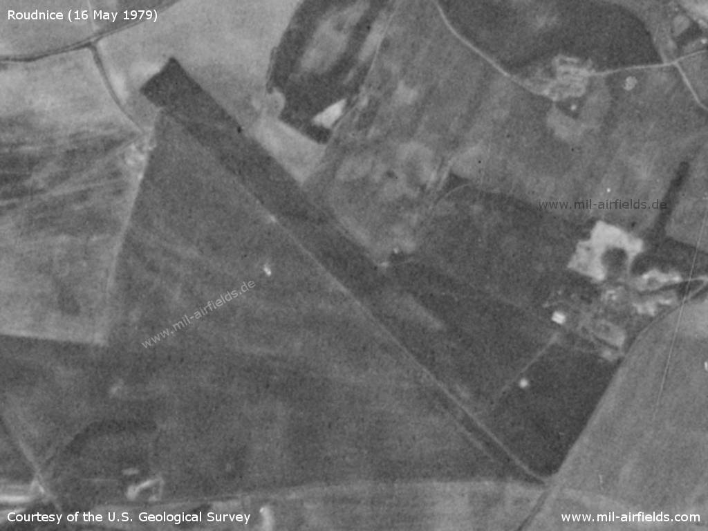 Roudnice nad Labem Airfield, Czech Republic, on a US satellite image 1979