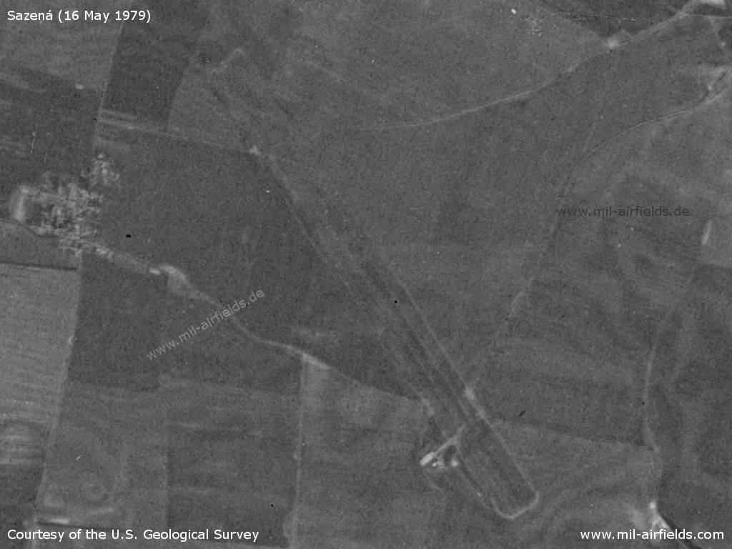 Sazená Airfield, Czechia, on a US satellite image 1979