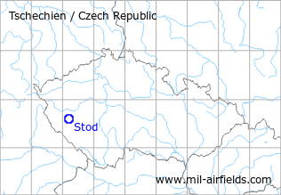 Map with location of Stod Airfield, Czech Republic