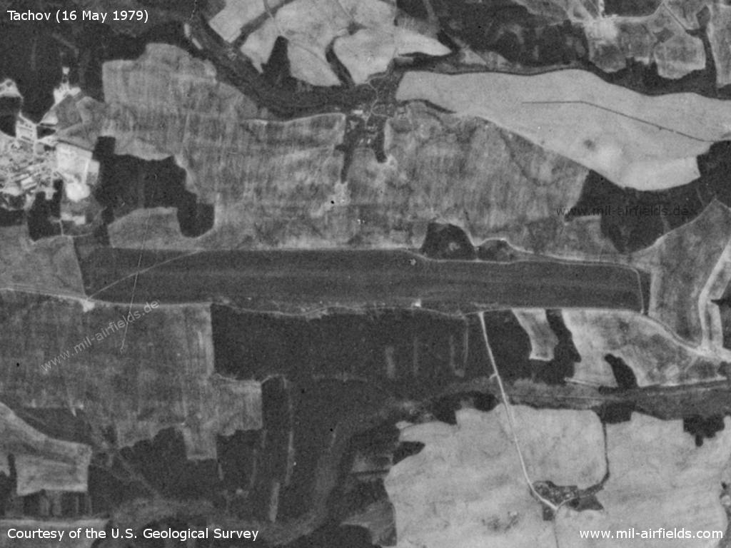Tachov Airfield, Czech Republic, on a US satellite image 1979