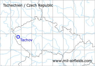 Map with location of Tachov Airfield, Czech Republic
