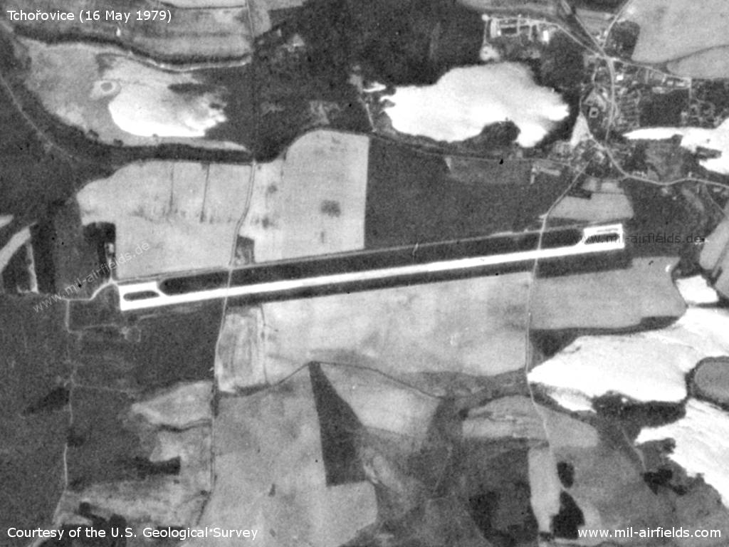 Tchořovice Airfield, Germany, on a US satellite image 1979