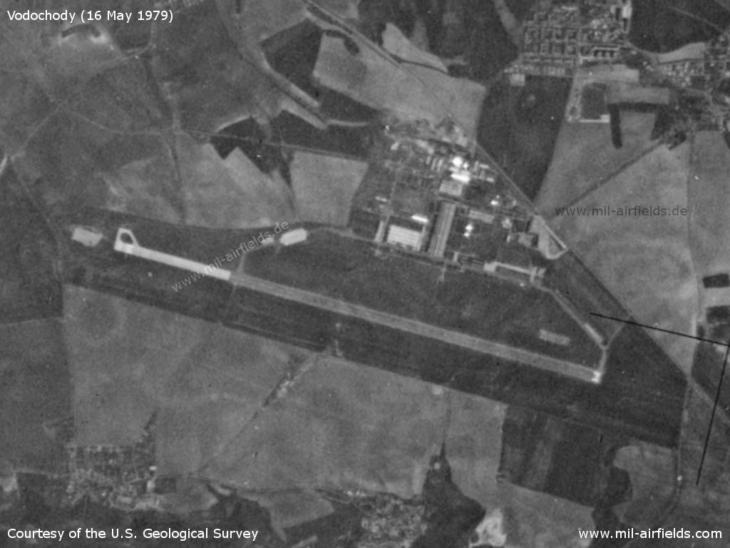 Vodochody Airfield, Germany, on a US satellite image 1979
