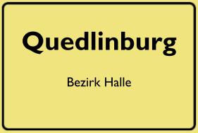 Ortsschild Quedlinburg, DDR