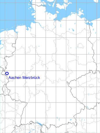 Map with location of Aachen Merzbrück, Germany
