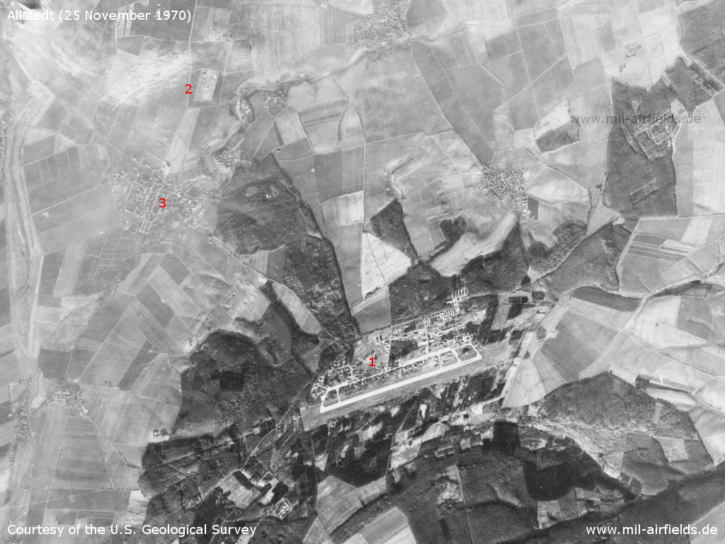 Allstedt Air Base, Germany, on a US satellite image 1970