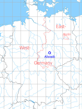 Map with location of Allstedt Air Base
