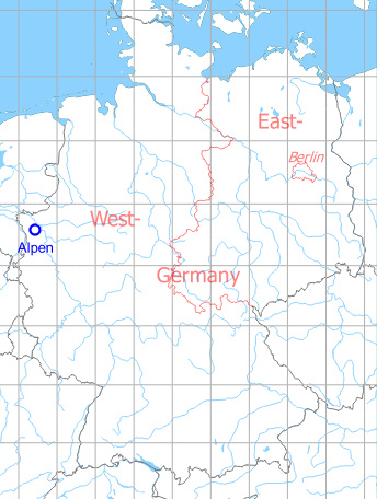 Map with location of Alpen Highway Strip, Germany