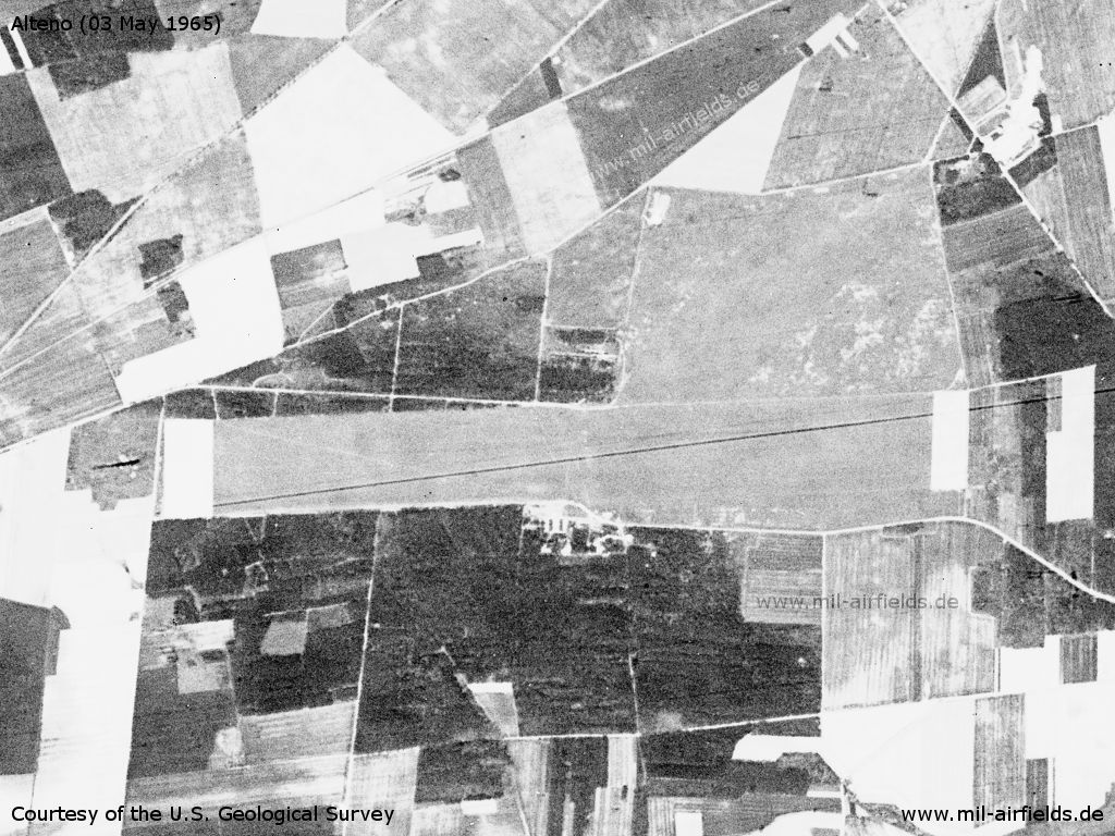 Alteno airfield, Germany, on a US satellite image from 03 May 1965
