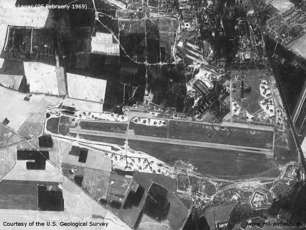 Altes Lager / Jueterbog Soviet Air Base, Germany, on a US satellite image 1969