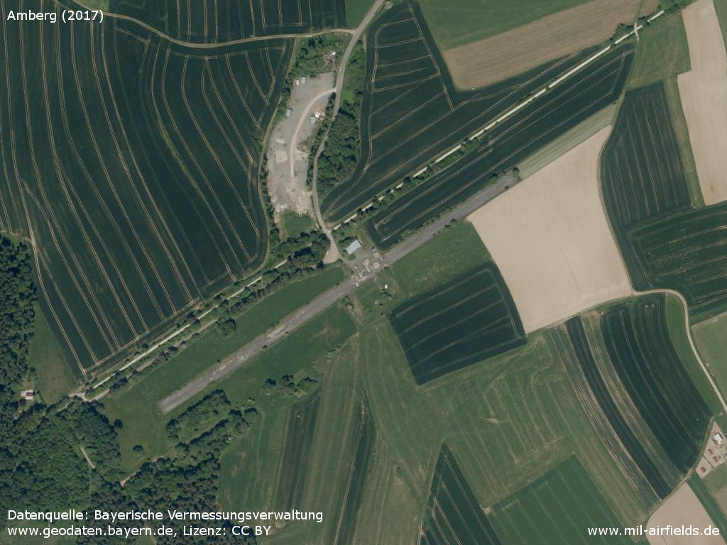 Aerial image Amberg Army Airfield, Germany 2017