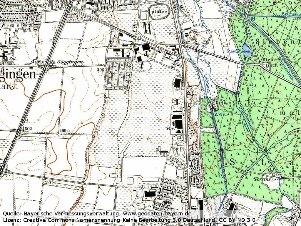 Karte Augsburg.Flugplatz Augsburg Haunstetten Military Airfield Directory