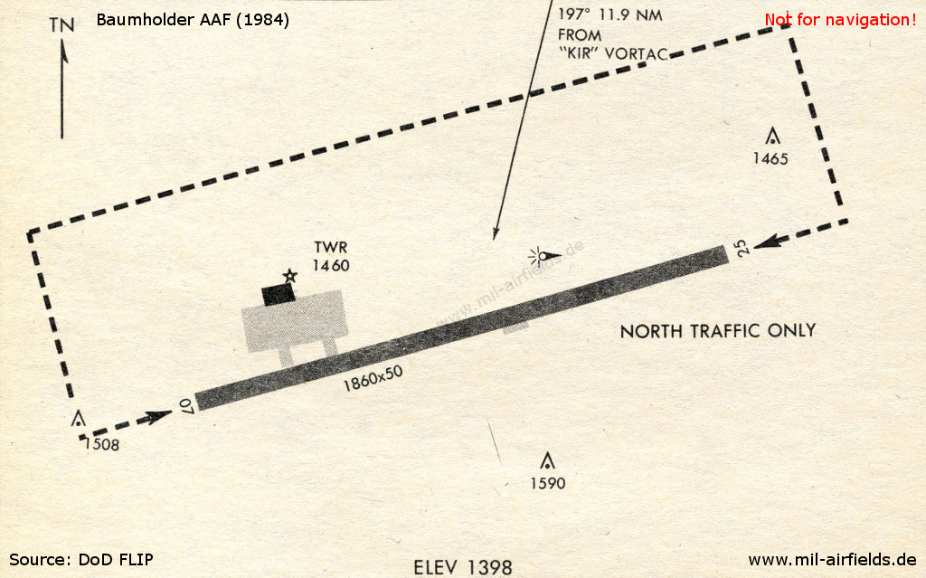 Baumholder Army Airfield in 1984
