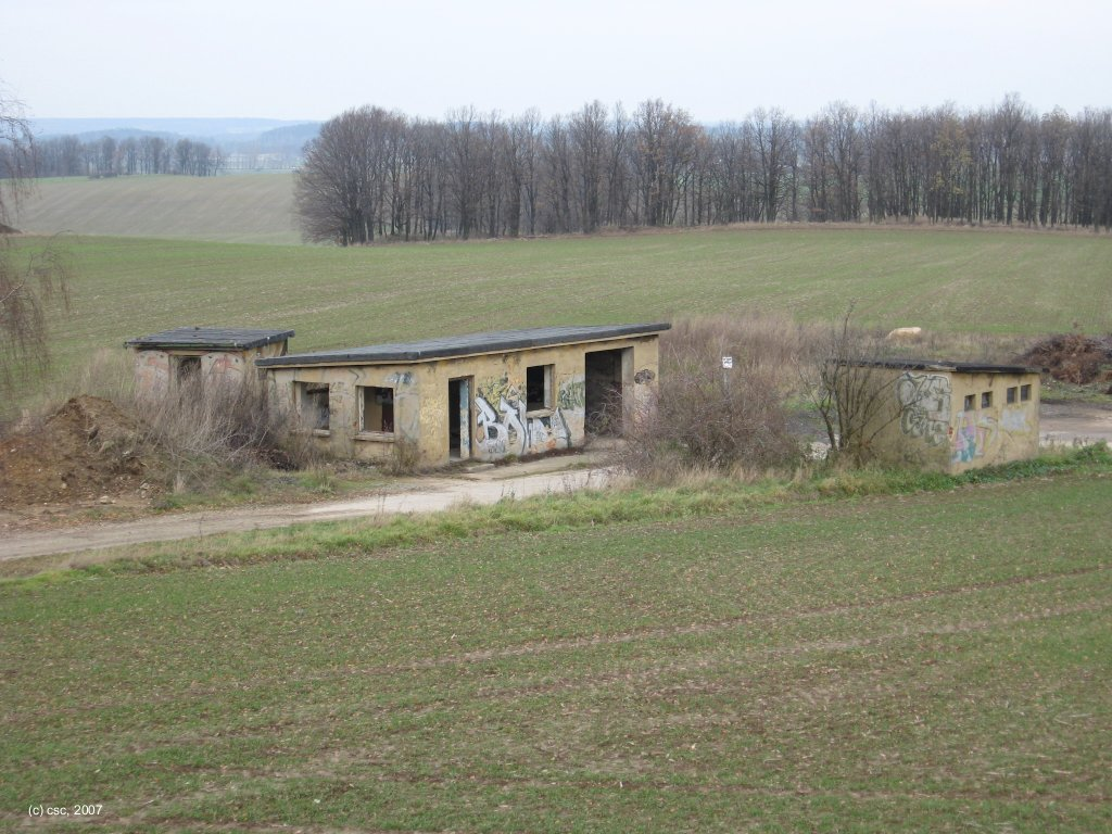 Relicts of the FAG-25 storage area at Kubschuetz (2007)