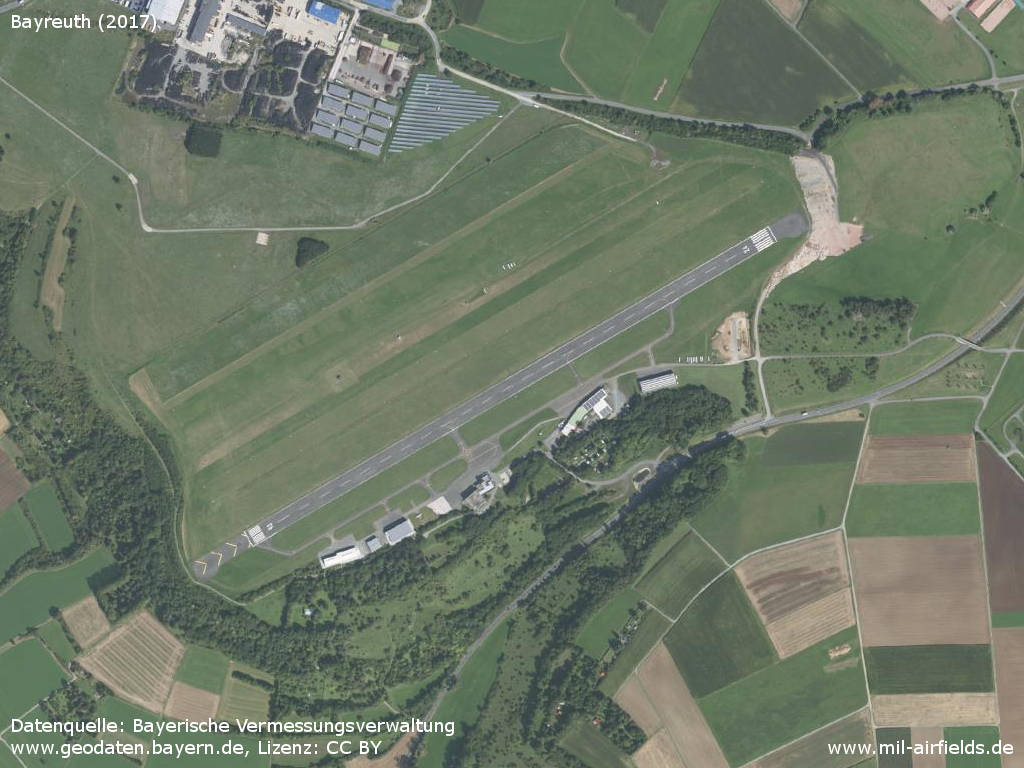 Aerial image of Bayreuth Airfield / Airport