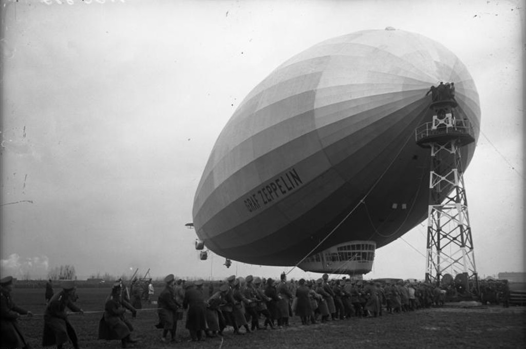 Airship LZ 127 in Staaken