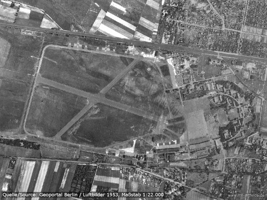 Berlin Staaken airfield aerial view 1953
