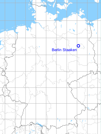 Map with location of Berlin Staaken airfield