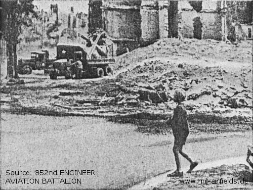 Loading rubble for runway base from ruins of Berlin