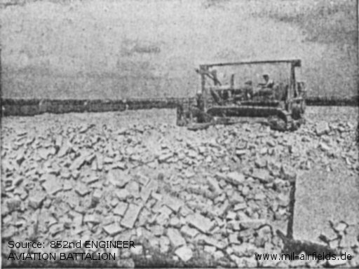 Grading initial rubble course runway base