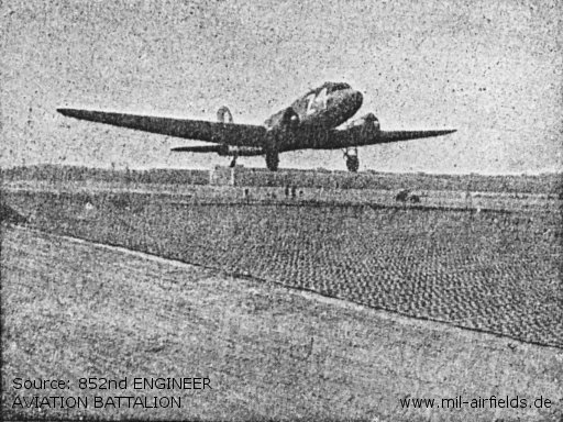 First plane off of completed runway 1700 hrs. 28 August 1945