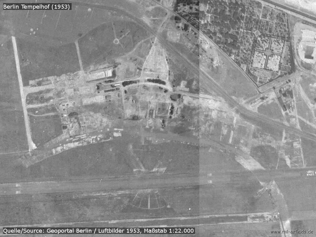 Aerial picture of the old airfield