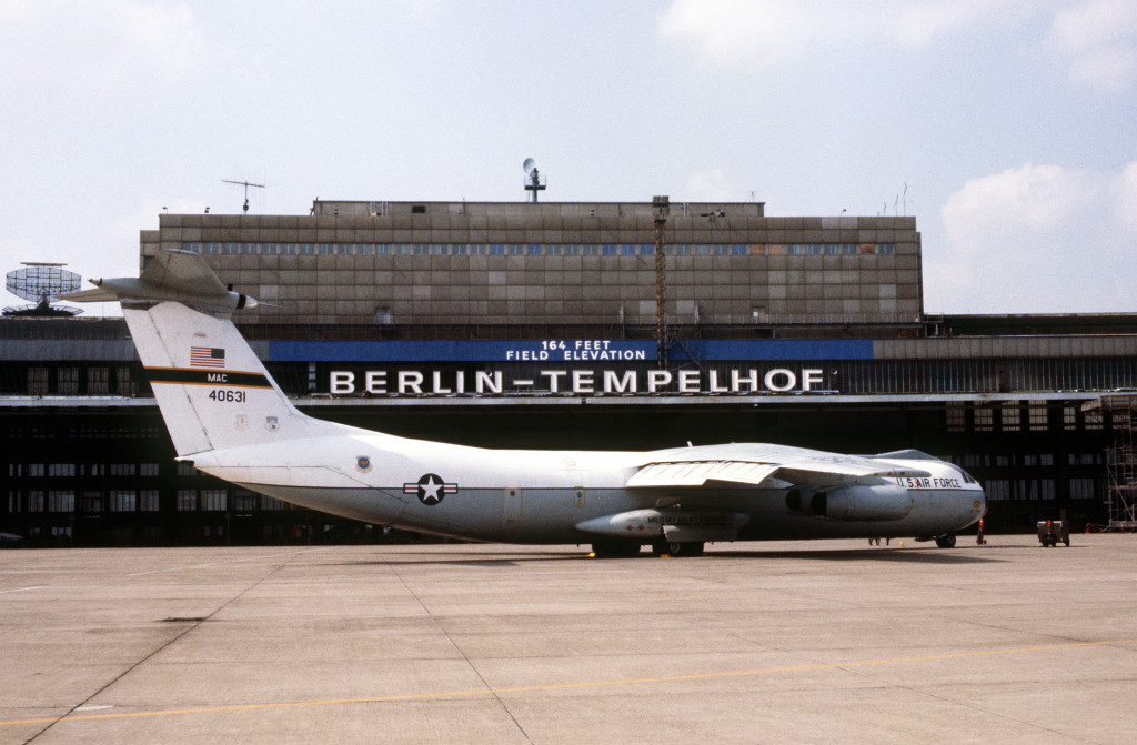 US Air Force C-141 Starlifter at Berlin Tempelhof Airport