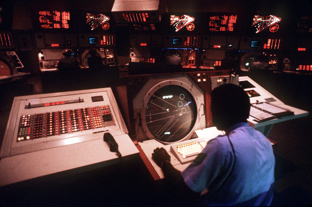 Berlin Air Route Traffic Control Center BARTCC control room (1986)