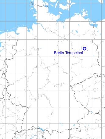 Map with location of Berlin Tempelhof Airfield