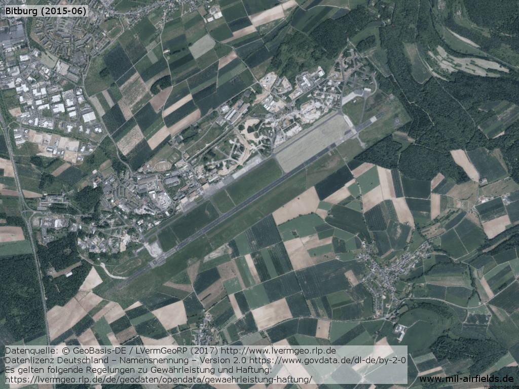 Aerial view of Bitburg Airfield from June 2015