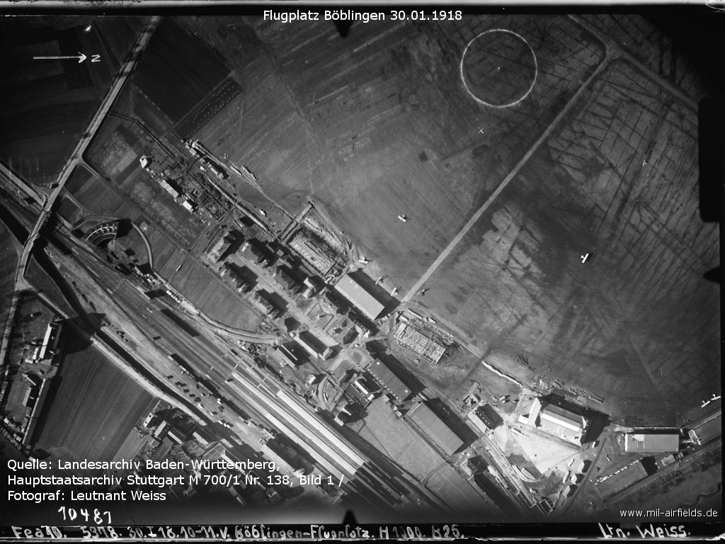 Aerial picture of Böblingen airfield 1918