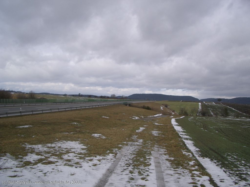 View over the Böhringen highway strip, Germany
