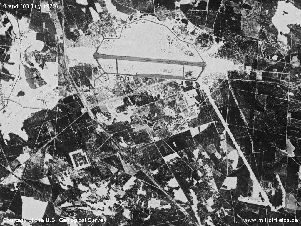 Brand Air Base, Germany, on a US satellite image 1970