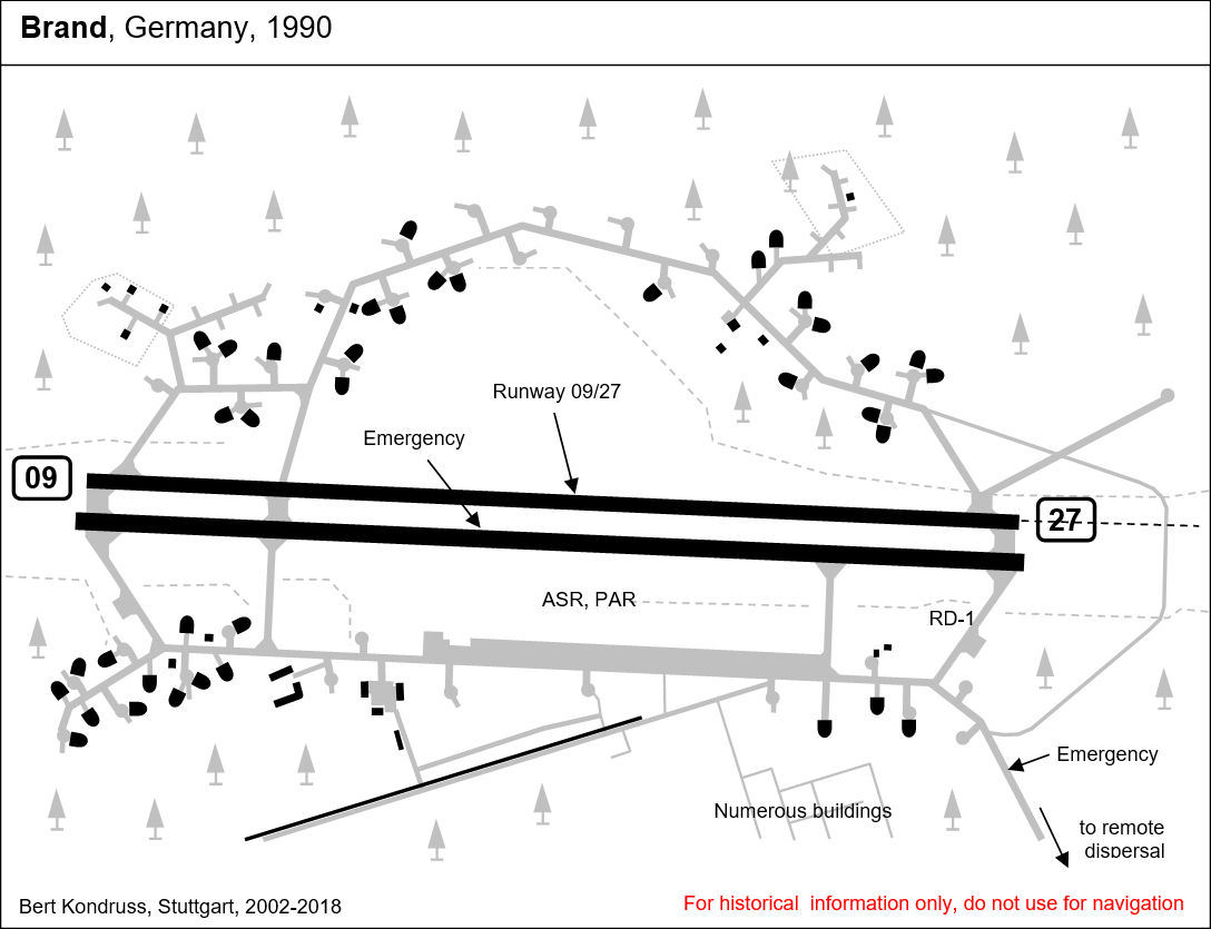Map of Brand-Briesen Air Base, Germany