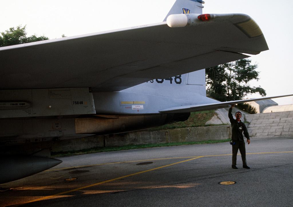 USAF F-15 Eagle bei der Übung Reforger-Crested Cap auf dem Fliegerhorst Bremgarten