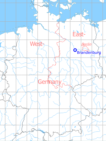 Map with location of Brandenburg Briest Air Base