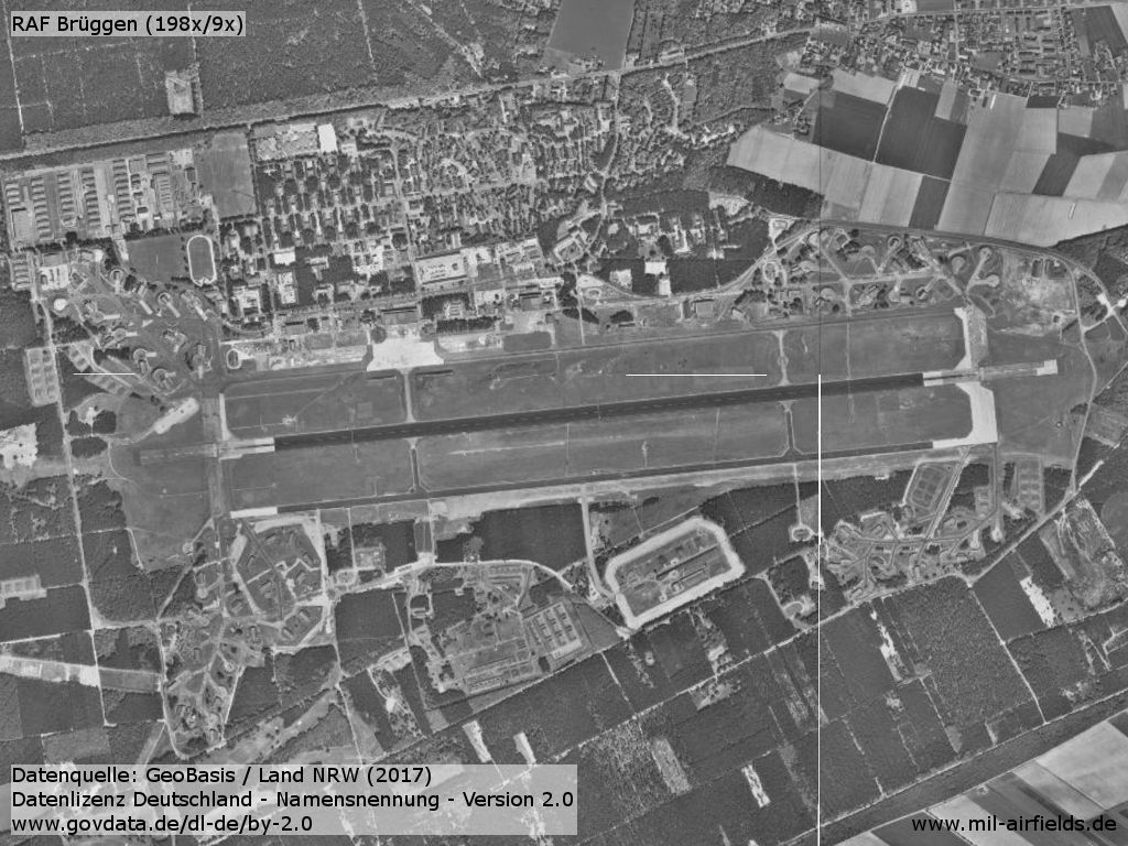 Aerial picture of RAF Brüggen Germany