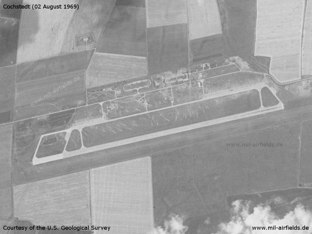 Cochstedt Airfield, Germany, on a US satellite image 1969