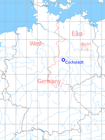 Map with location of Cochstedt Airfield