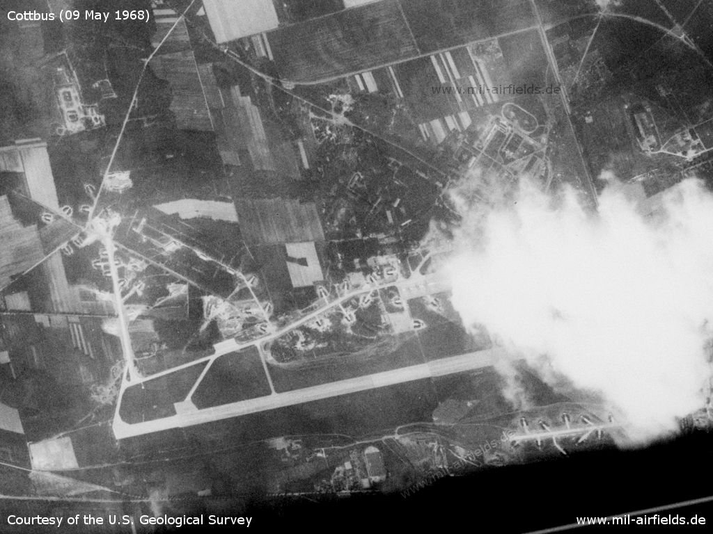 Cottbus Air Base, Germany, on a US satellite image 1968