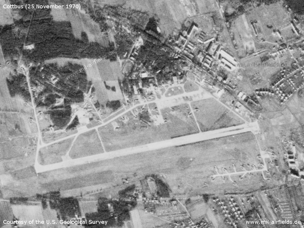 Cottbus Air Base, Germany, on a US satellite image 1970